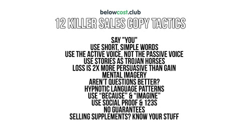 12 killer sales copy tactics to make more money