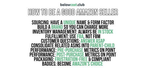 How to Be a Good Amazon Seller - Seller Performance Metrics