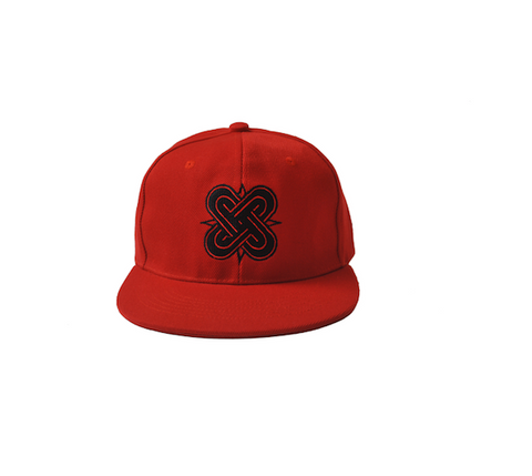 Eternal Knot Red & Black SnapBack Hat