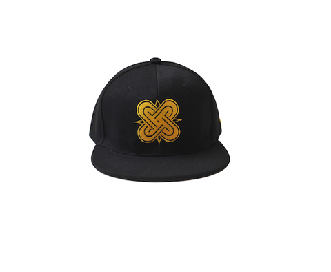 Eternal Knot Black & Gold Snapback Hat