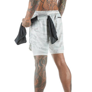 Dual Layer Shorts - White Camo