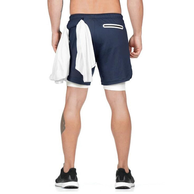 Dual Layer Shorts - Navy