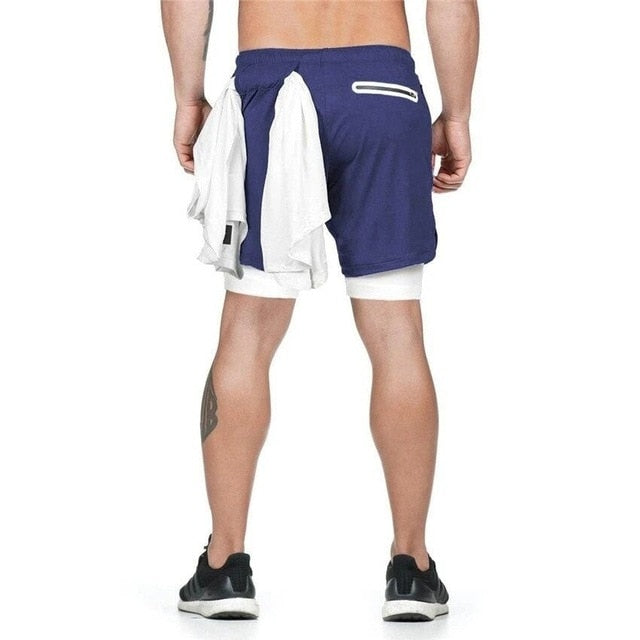 Dual Layer Shorts - Blue