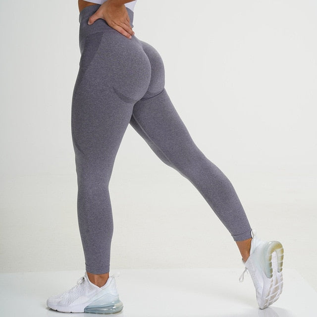 Dark Grey Seamless Contour Leggings - Lirio Fitness