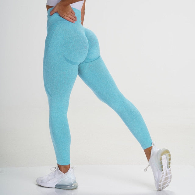 Tropical Blue Seamless Contour Leggings - Lirio Fitness