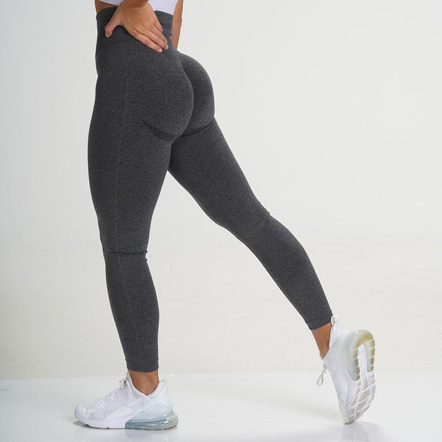 Black Seamless Contour Leggings - Lirio Fitness