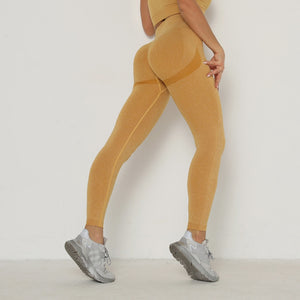 Tuscany Yellow Booty Scrunch Contour Leggings - Lirio Fitness