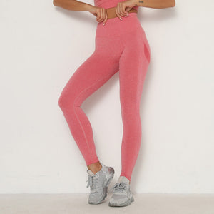 Strawberry Pink Booty Scrunch Contour Leggings - Lirio Fitness