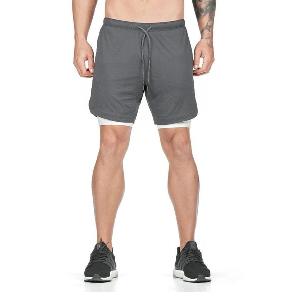 Dual Layer Shorts - Dark Grey