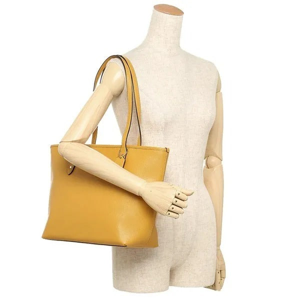 Coach F58846 City Zip Tote Goldenrod/light Gold