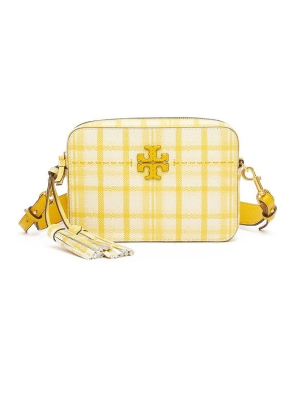 Tory Burch 53171 McGraw Plaid Camera Bag Yellow