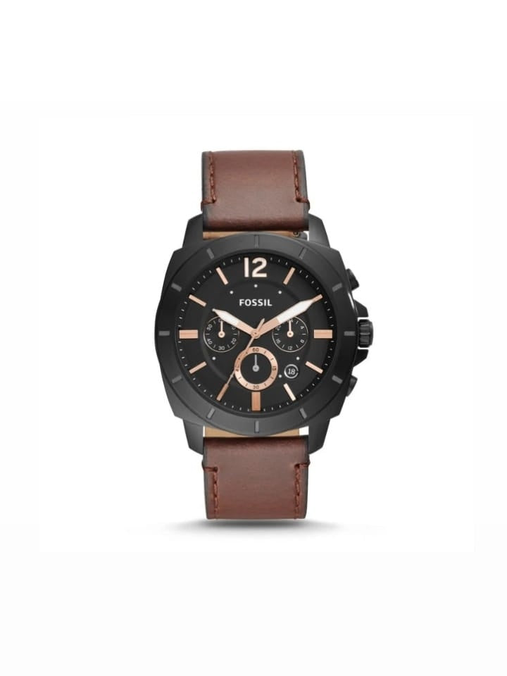 Fossil  Bq2380ie Privateer Chronoghraph Brown