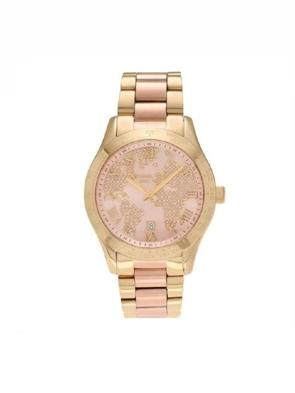 Michael Kors Mk6476 Layton Rose Gold-tone Dial Ladies Watch