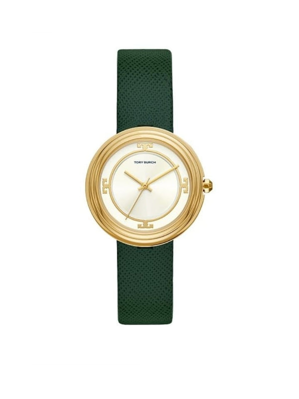 Tory Burch Tbw6102 Womens Bailey Green Leather Strap Watch