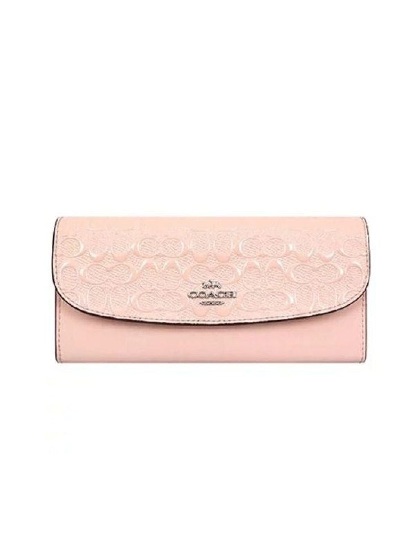 Coach F26814 Soft Wallet In Signature Leather Soft Pink