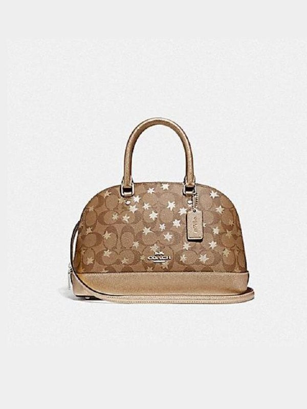 Coach F39676 Mini Sierra Satchel Signature Pop Star Print Khaki Multi