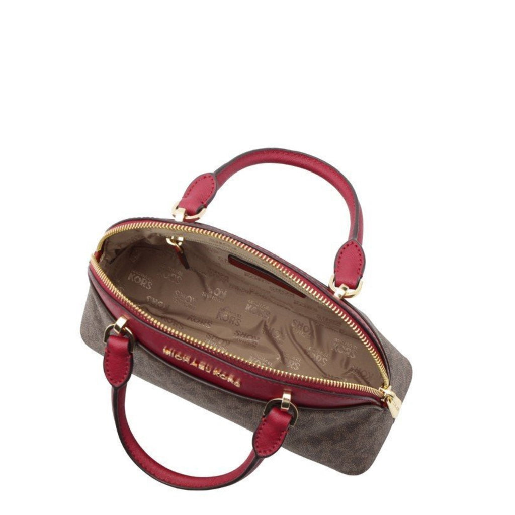 Michael Kors 35h7gy3s1b Package Lady Bag Outlet Brown / Cherry
