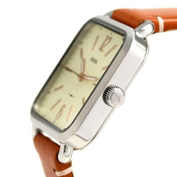 Fossil Es4253 Micah Three Hand Sage Tan Leather Watch