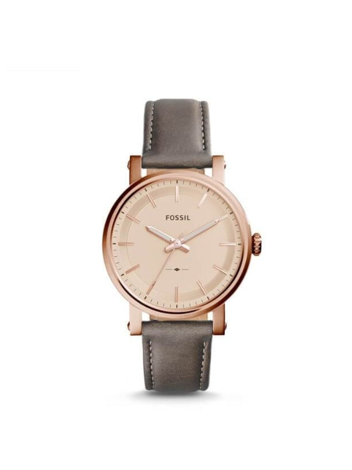 Fossil Original Boyfriend Sport Three-hand Gray Leather Watch