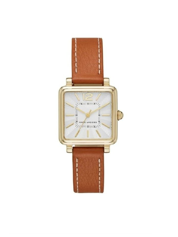 Marc Jacobs Mj1573 Vic Brown Leather Watch