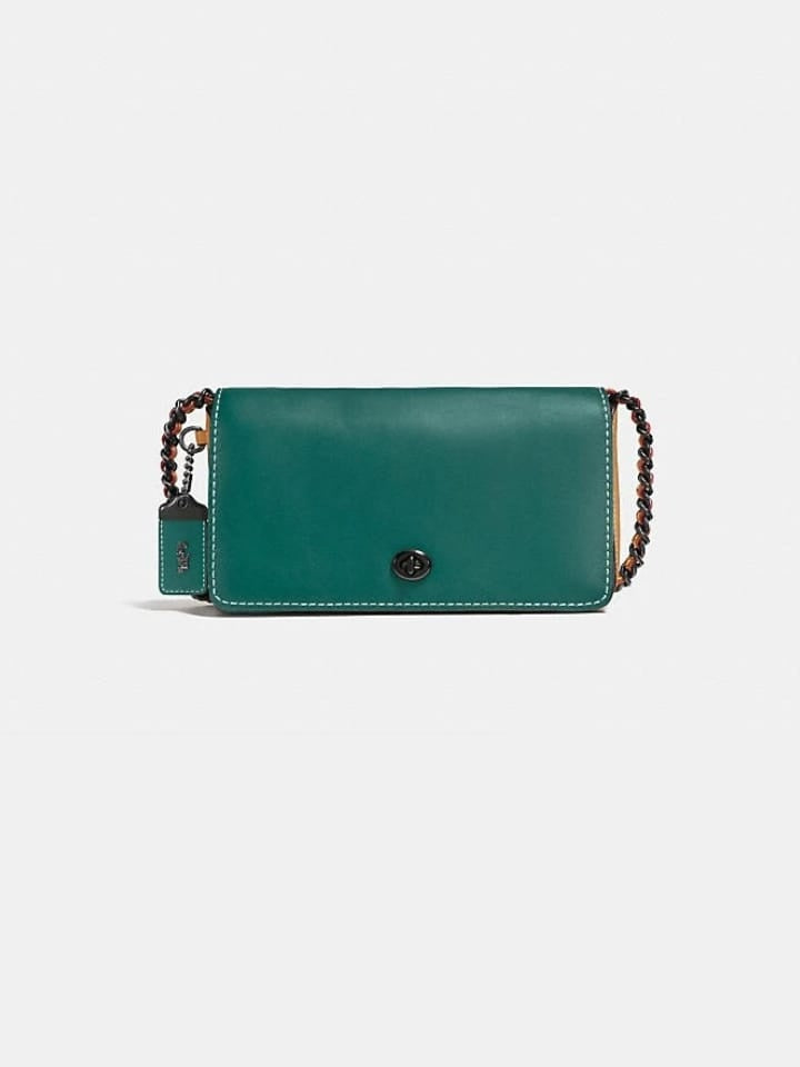 Coach F56263 Dinky Dark Turquoise / Light Saddle