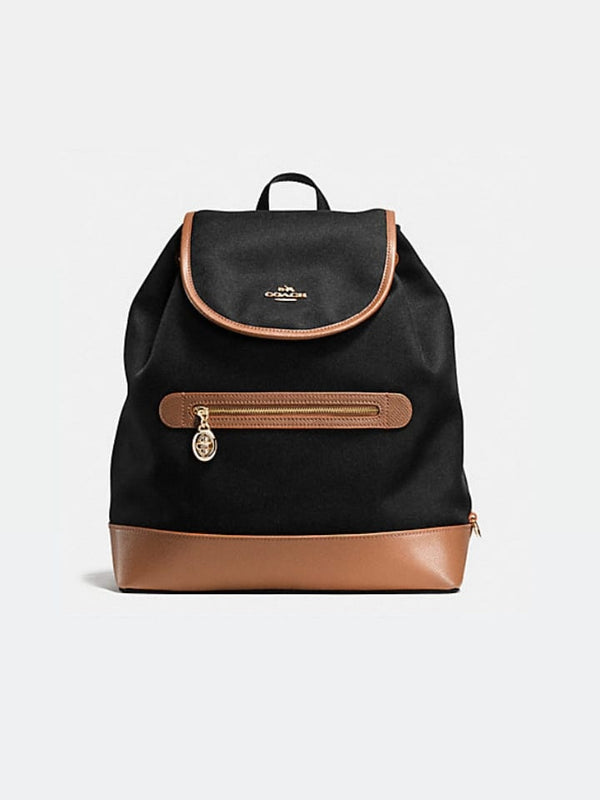 Coach f37240 Sawyer Backpack In Canvas Black