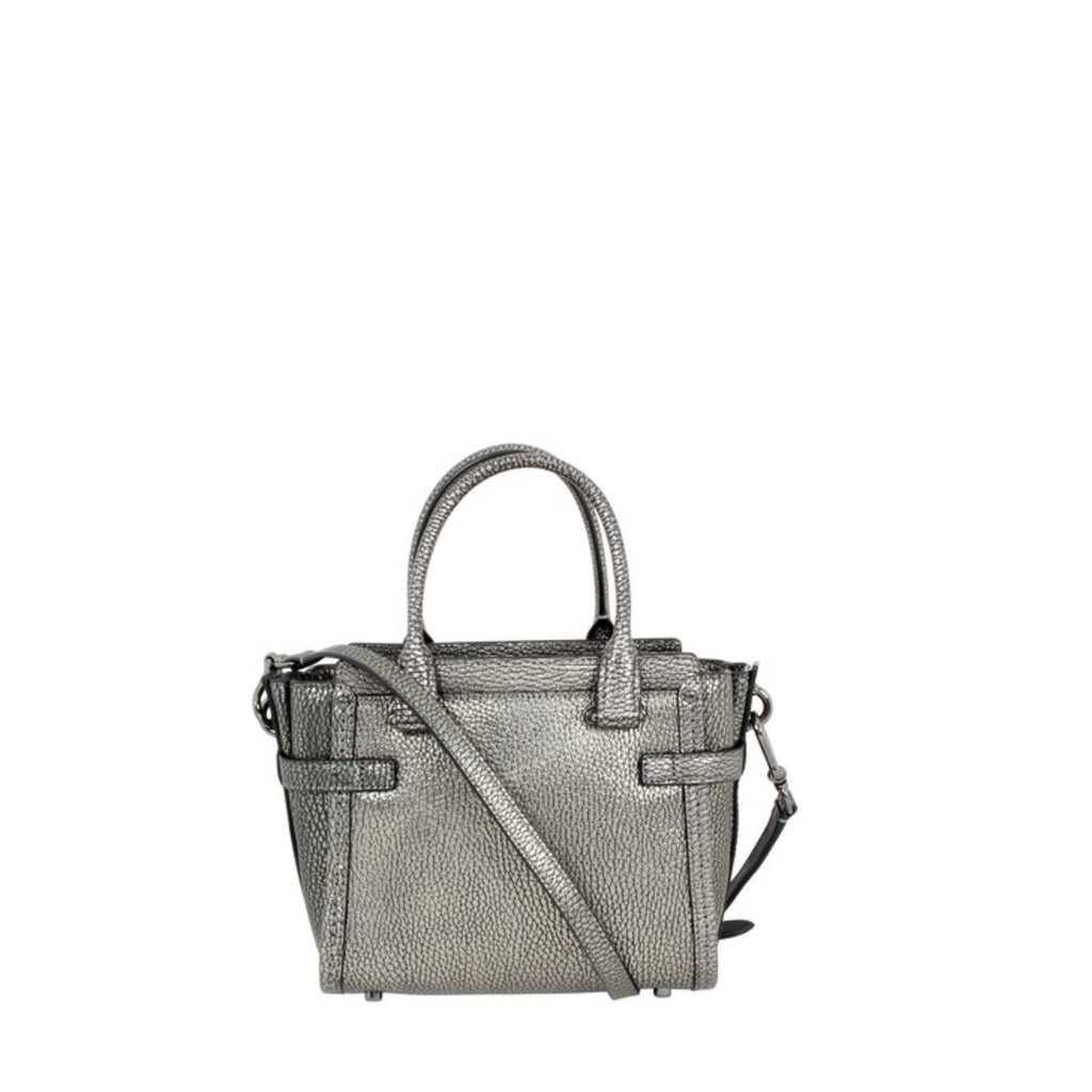 Coach 54625 Swagger 15 In Pebble Leather Gunmetal