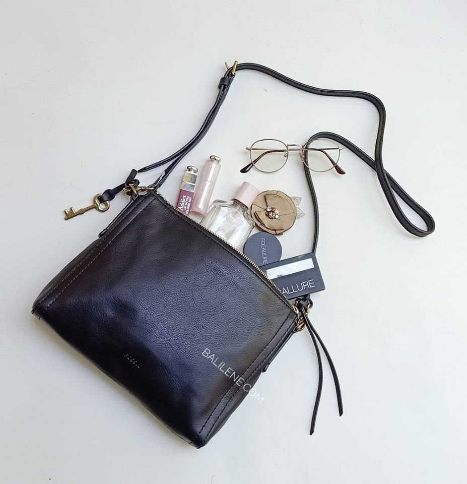 Fossil  Zb6842001 Emma Ew Crossbody Black