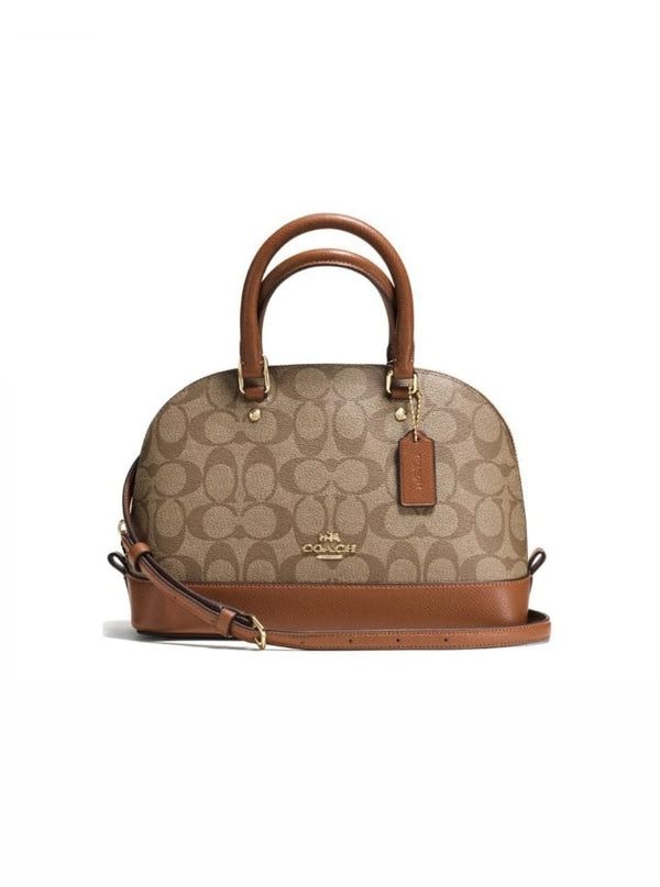 Coach F27583 Signature Mini Sierra Satchel Khaki Saddle