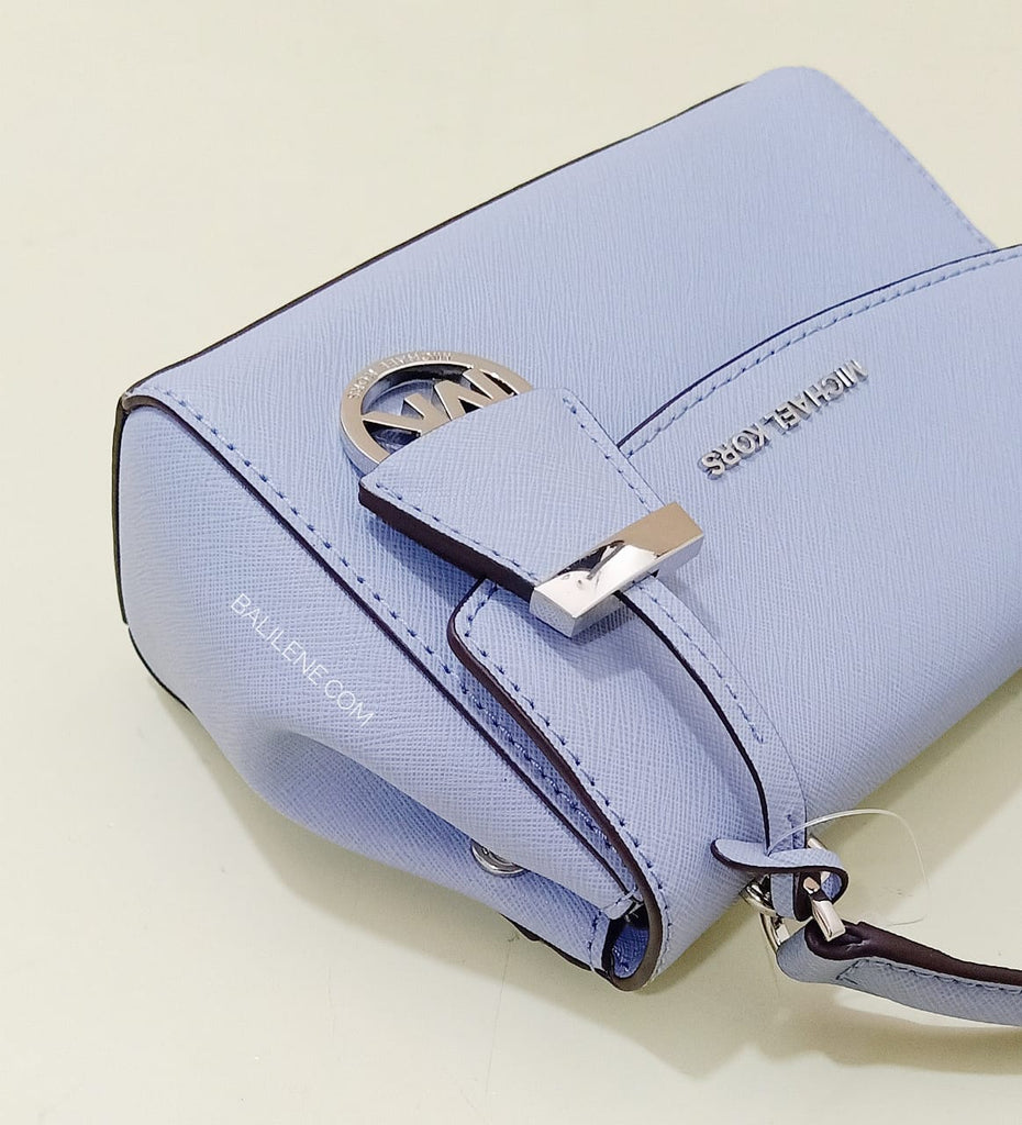 Michael Kors 32f5savc1l Ava Extra-small Saffiano Leather Crossbody Pale Blue