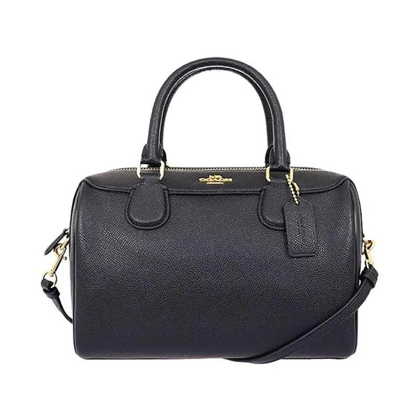 Coach F32202 Crossgrain Mini Bennett Satchel Black Leather