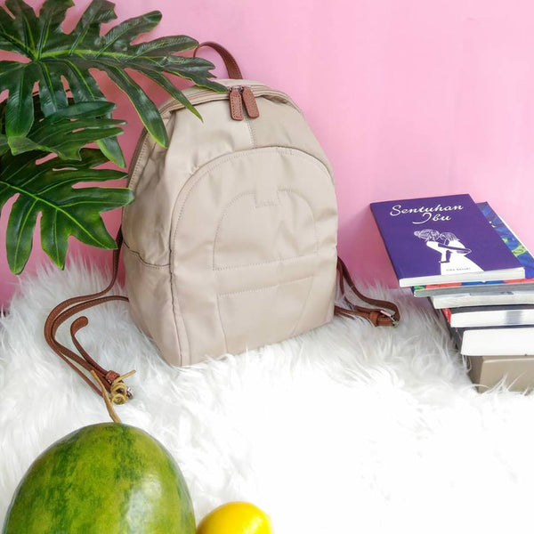 Aigner Small Nylon Backpack Taupe