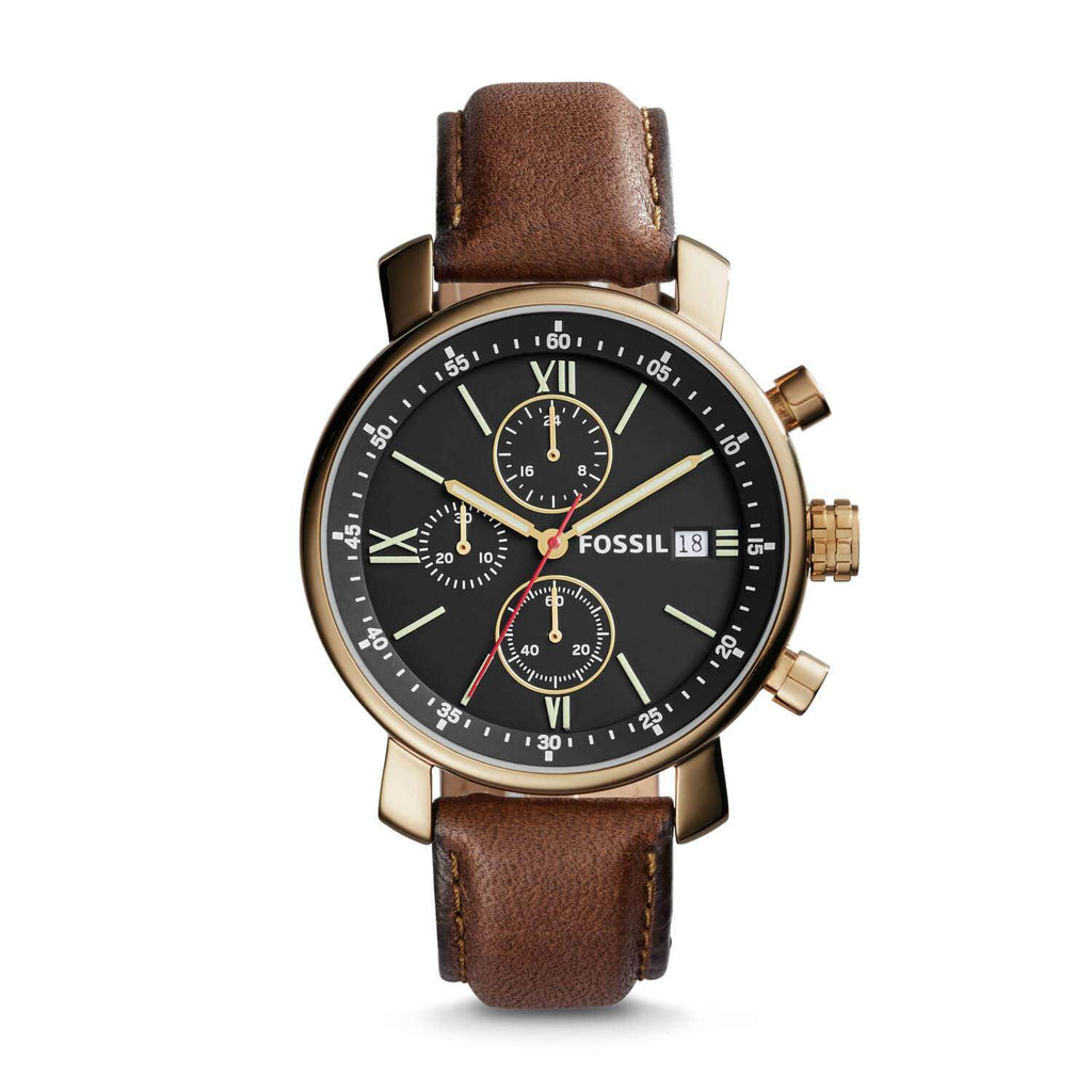 Fossil BQ2005 Rhett Classic Edition Dark Brown Leather Watch