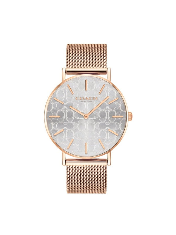 Coach 14503386 Perry Silver Dial Rosegold Womens Watch