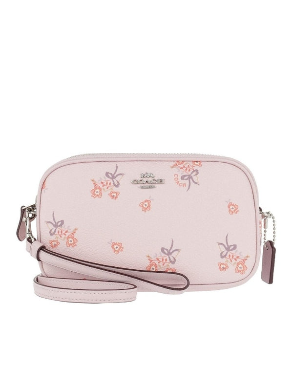 Coach 29549 Floral Bow Crossbody Clutch Lee Pink Floral