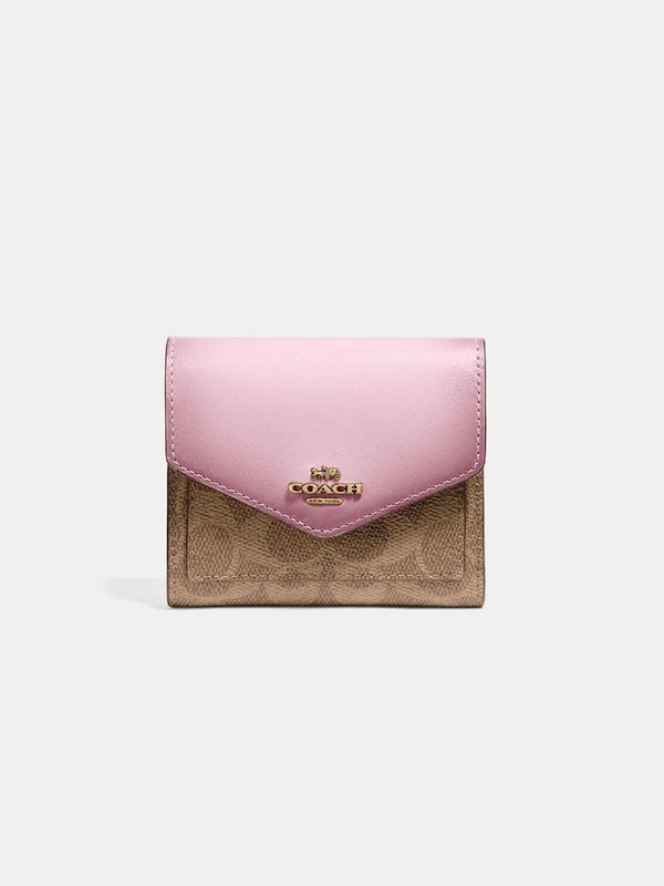 Coach 31548 Coach Small Wallet Signature Blossom
