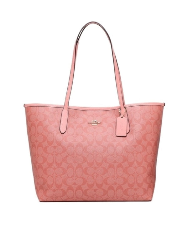 Coach 5696 City Tote Signature Candy Pink