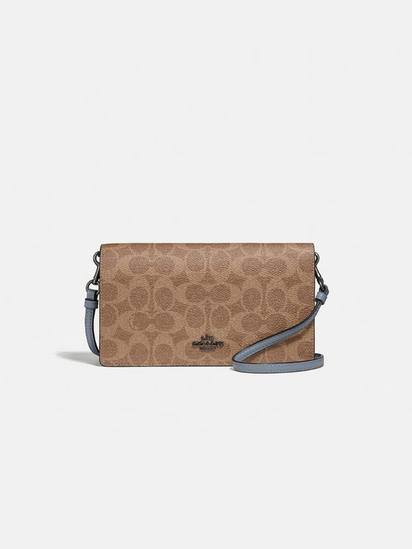 Coach 73318 Hayden Foldover Crossbody Tan Mist Multi