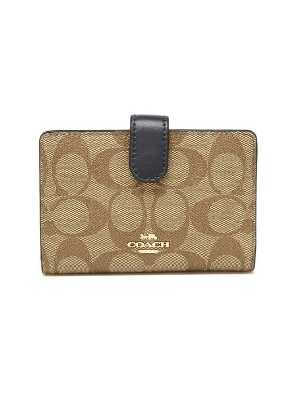 Coach F23553 Corner Medium Signature Khaki Midnight