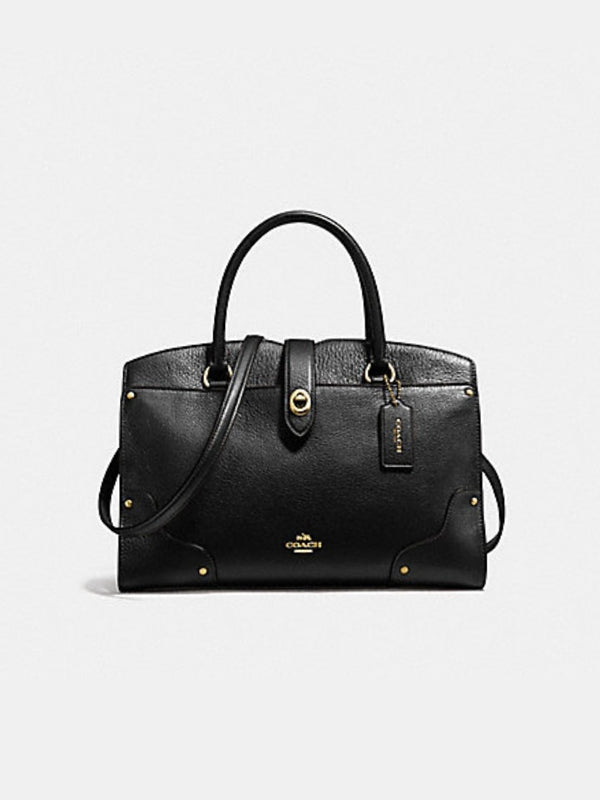 Coach F37575 Mercer 30 Satchel Black
