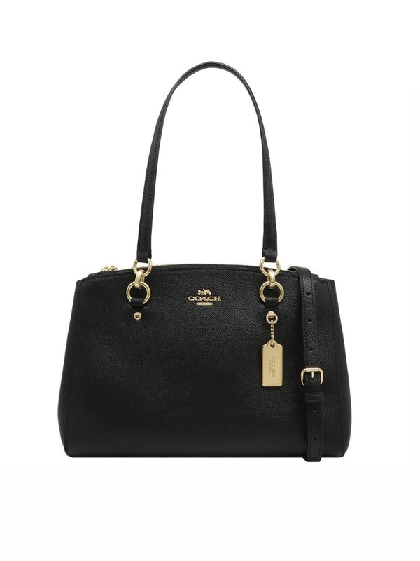 Coach F76938  Etta Carryal Crossgrain Leather Black