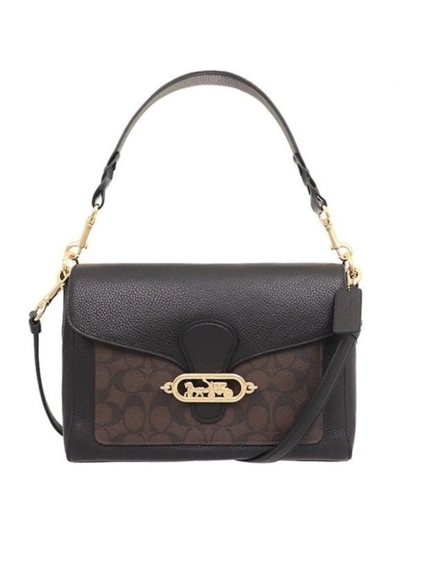 Coach F81992 Jade Messenger Brown Black