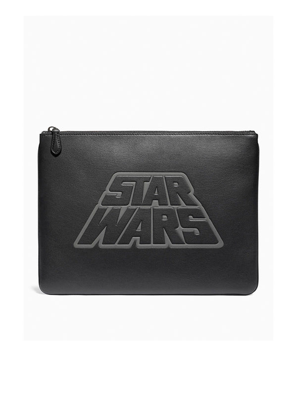 Coach F88366 Leather Pouch Star Wars Black