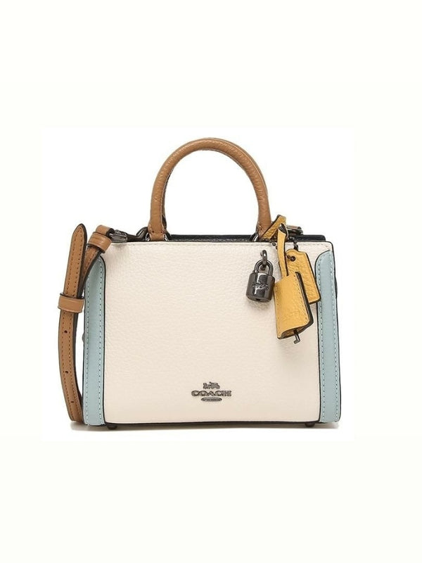 Coach 1426 Micro Zoe Crossbody In Colorblock Chalk Multi