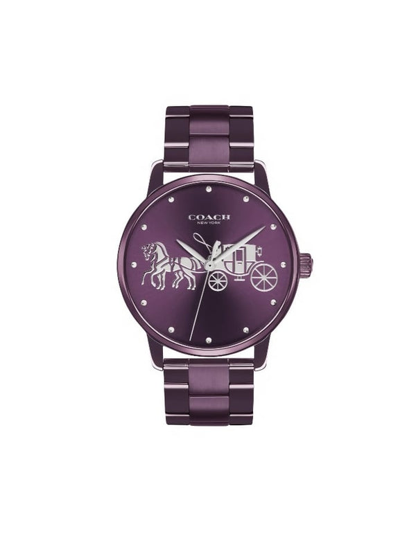 Coach 14502923 Ladies Grand Watch Purple