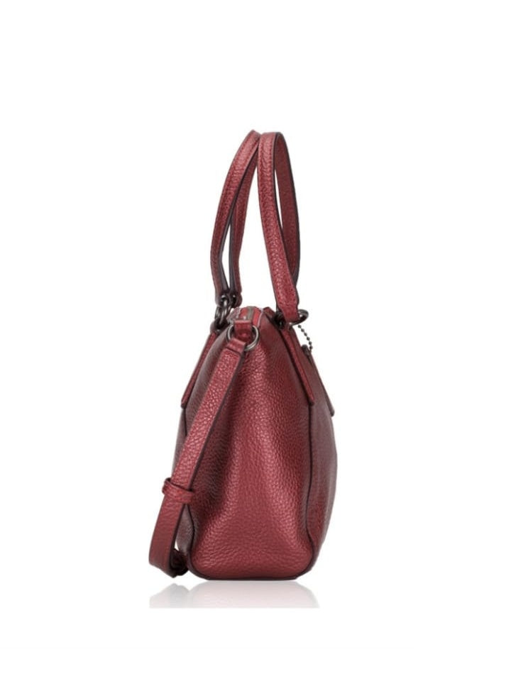 Coach 29639 Metallic Pebble Leather Mini Kelsey Hot Pink