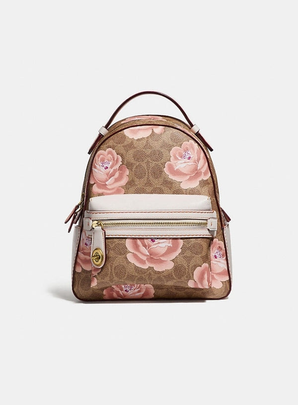 Coach 30954 Campus Backpack 23 In Signature Rose Print