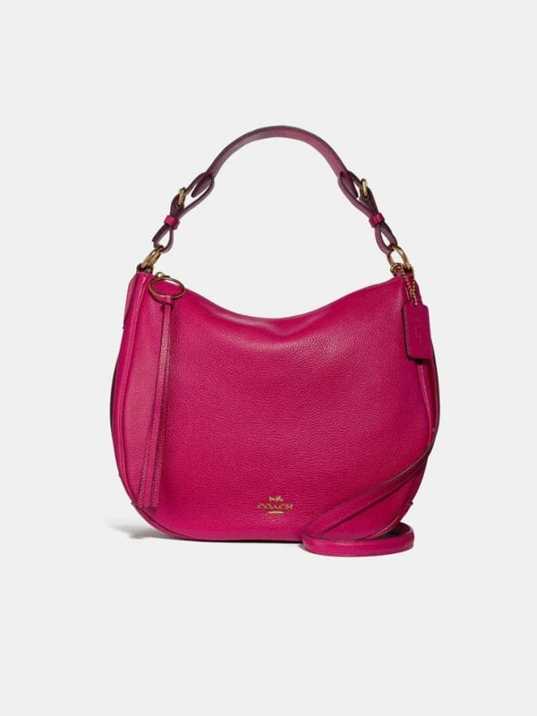 Coach 35593 Leather Sutton Hobo Bright Cherry