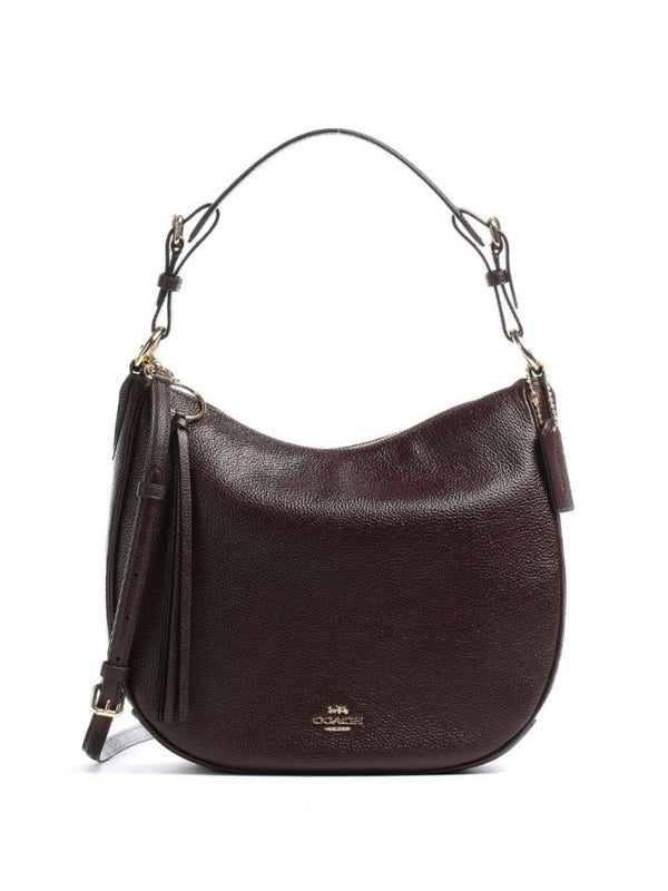 Coach 35593 Sutton Hobo Pabbled Leather Oxblood