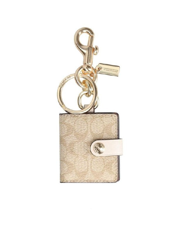 Coach 77675 Frame Bag Charm Signature Light Chalk